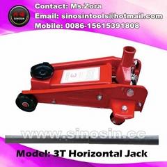 3T hand powered car jack floor jack trolley heavy floor jack for sales