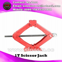 Car Jack Use and 1T Capacity (Load) scissor jack made in china