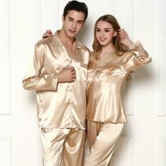 Silk couples pajamas
