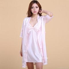 Silk Pajamas Night Robe Strap Dress Nightgowns For Women