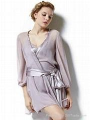 Sheer Sexy Silk Robe for Women
