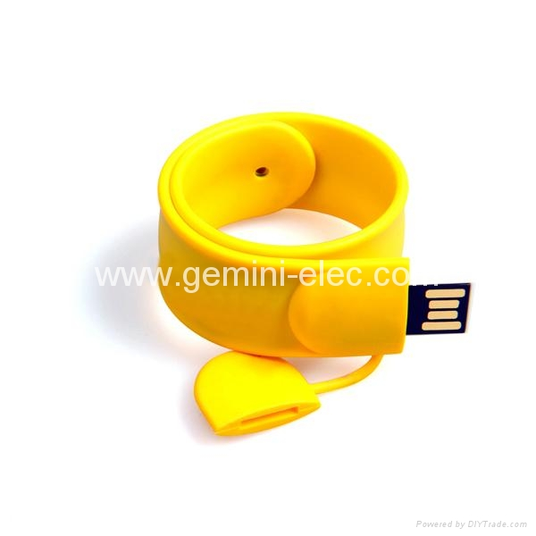 Promotional gift usb flash drive 4gb silicone slap bracelet usb  1