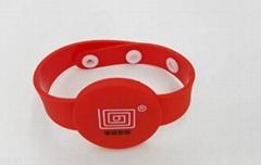 RFID silicone rubber bracelet
