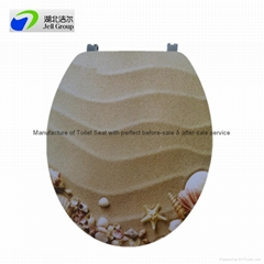 European 18 inch soft close MDF printing toilet seat cover