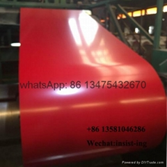export Ral3020 traffic red color PPGL roofing metal coil