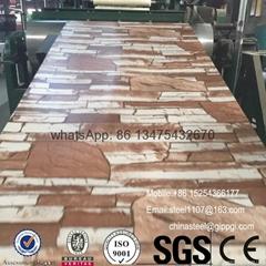 stone pattern design color coated decoration PPGI steel coil