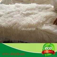 Tibetan sheepskin blanket Mogolia sheepskin throw