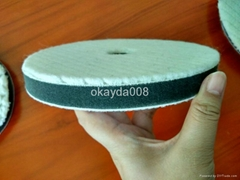 Square wool pads for car polishing