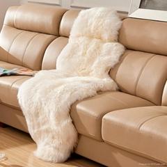 Double pelt sheepskin rug for home