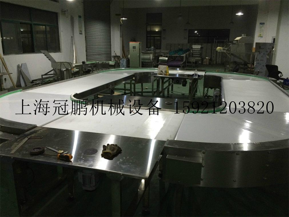 上海冠鹏供应刀口皮带转弯输送机 4