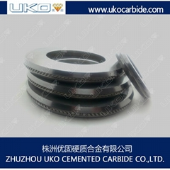 Tungsten carbide roller for cold rolling ribbed steel wires and bars for steel p
