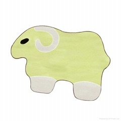 Small goat cartoon animal shape ground pad