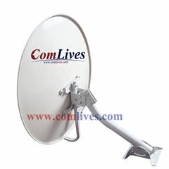 ku band 45cm/55cm/60cm/75cm/80cm/90cm satellite dish antenna