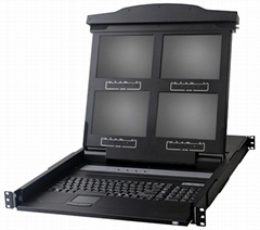 Quad Screen LCD Console Drawers