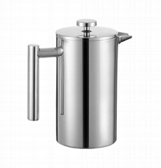 Stainless Steel Double Wall Coffee French Press and Tea Maker