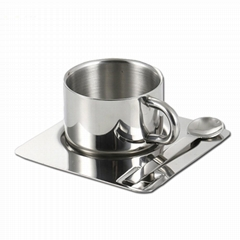 Double Wall 18/8 Stainless Steel Coffee Cup Set