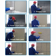 the granite flake paint used in exterior wall coating