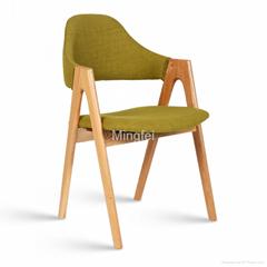cheap wood design restaurant chair with PU cushion
