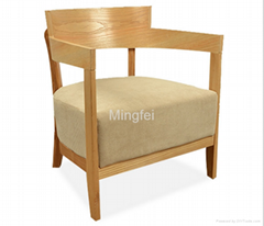comfortable wooden lounge chair for restaurant