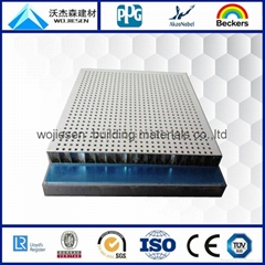 Perforated alumimum honeycomb panel for