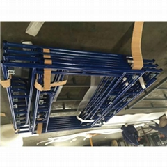 Walkthrough Frame Scaffold with Blue Surface