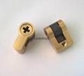 假鎖芯 全銅方孔 十字孔 齒輪 假鎖芯 電子鎖內鎖芯 假鎖芯訂做 5