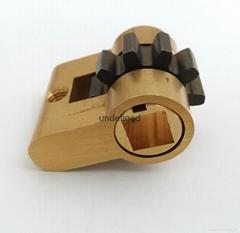 假锁芯 全铜方孔 十字孔 齿轮 假锁芯 电子锁内锁芯 假锁芯