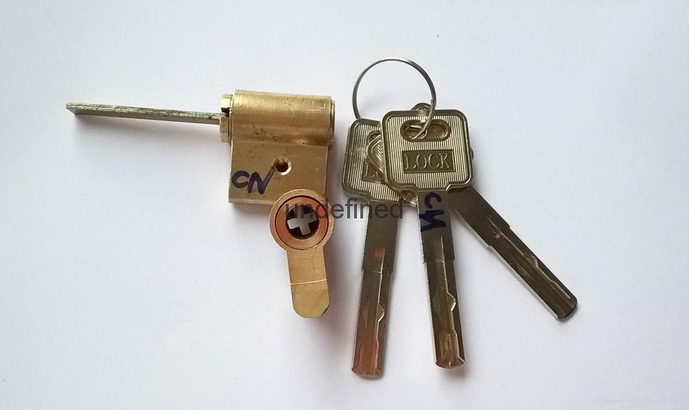 連體鎖芯 伸縮型智能鎖鎖芯 電子鎖拉長葉片鎖芯 2