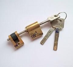 连体锁芯 伸缩型智能锁锁芯 电子锁拉长叶片锁芯