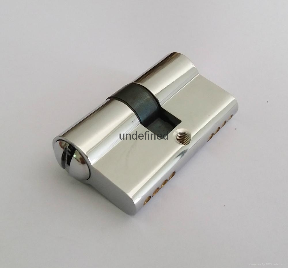 50雙開插芯鎖芯 全銅表面挂鍍鉻 高檔室內門鎖芯 4