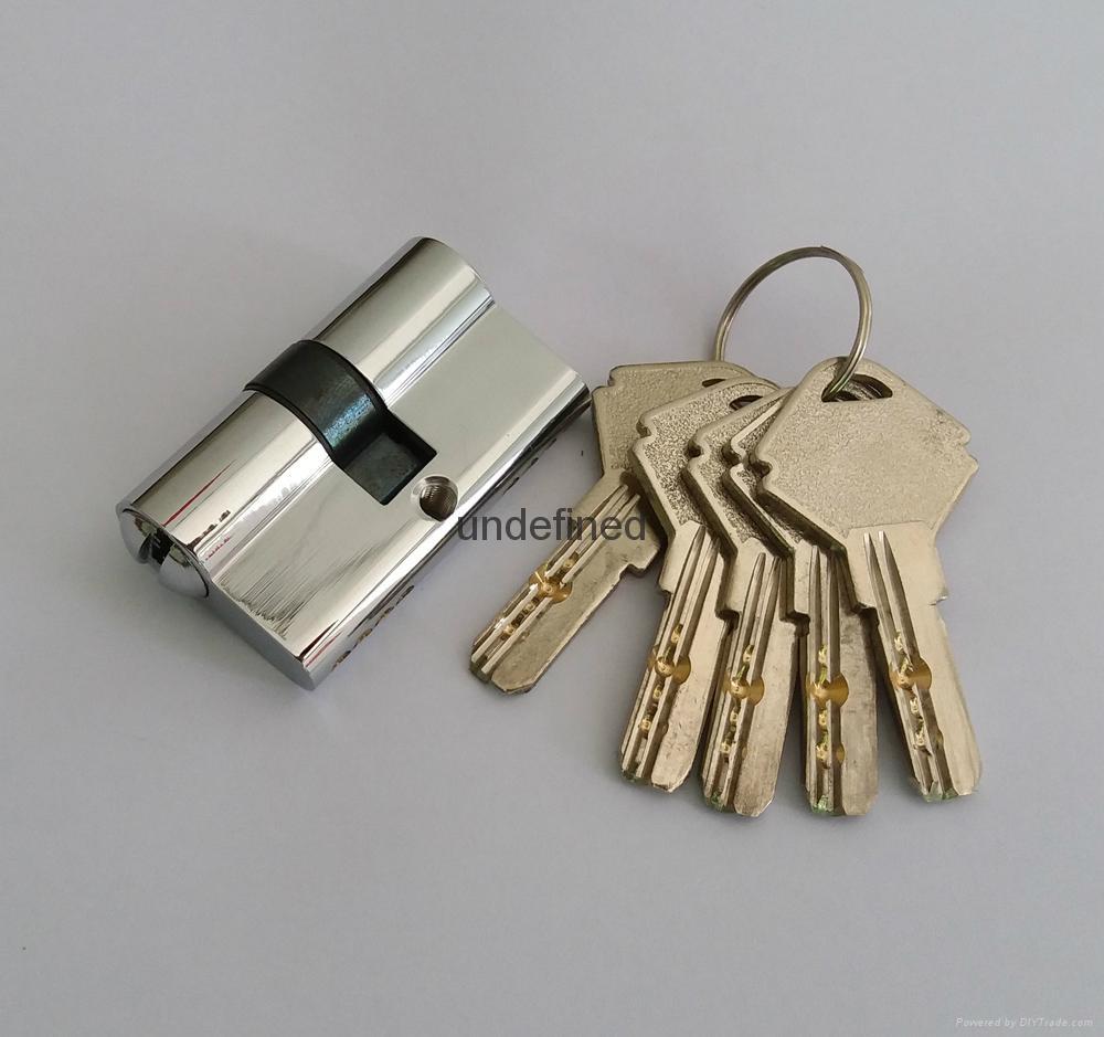 50雙開插芯鎖芯 全銅表面挂鍍鉻 高檔室內門鎖芯 1
