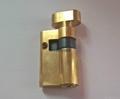 50單開插芯鎖芯 全銅偏開35+15 表面銅本色拋光 5