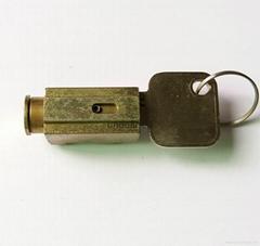 方形锁芯 锌合金推入式锁 非标锁芯定制