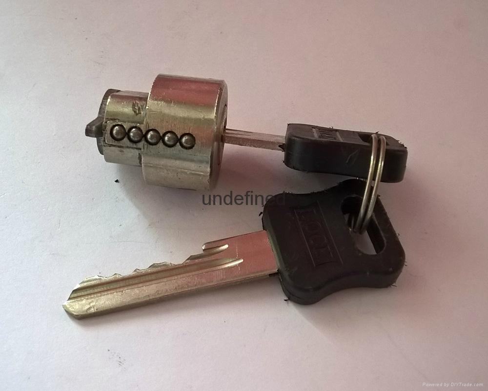 酒店鎖鋅合金鎖芯 膠柄圓鎖芯 銅鑰匙 2