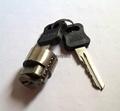 酒店鎖鋅合金鎖芯 膠柄圓鎖芯 銅鑰匙 3