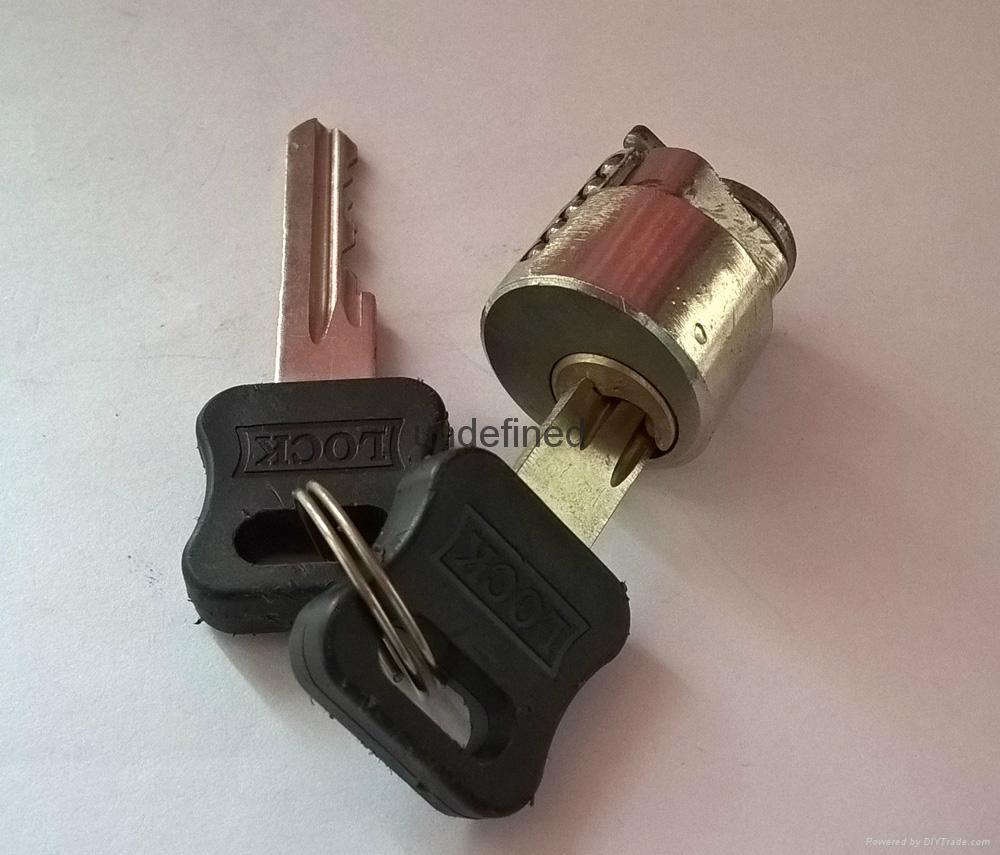 酒店鎖鋅合金鎖芯 膠柄圓鎖芯 銅鑰匙 4