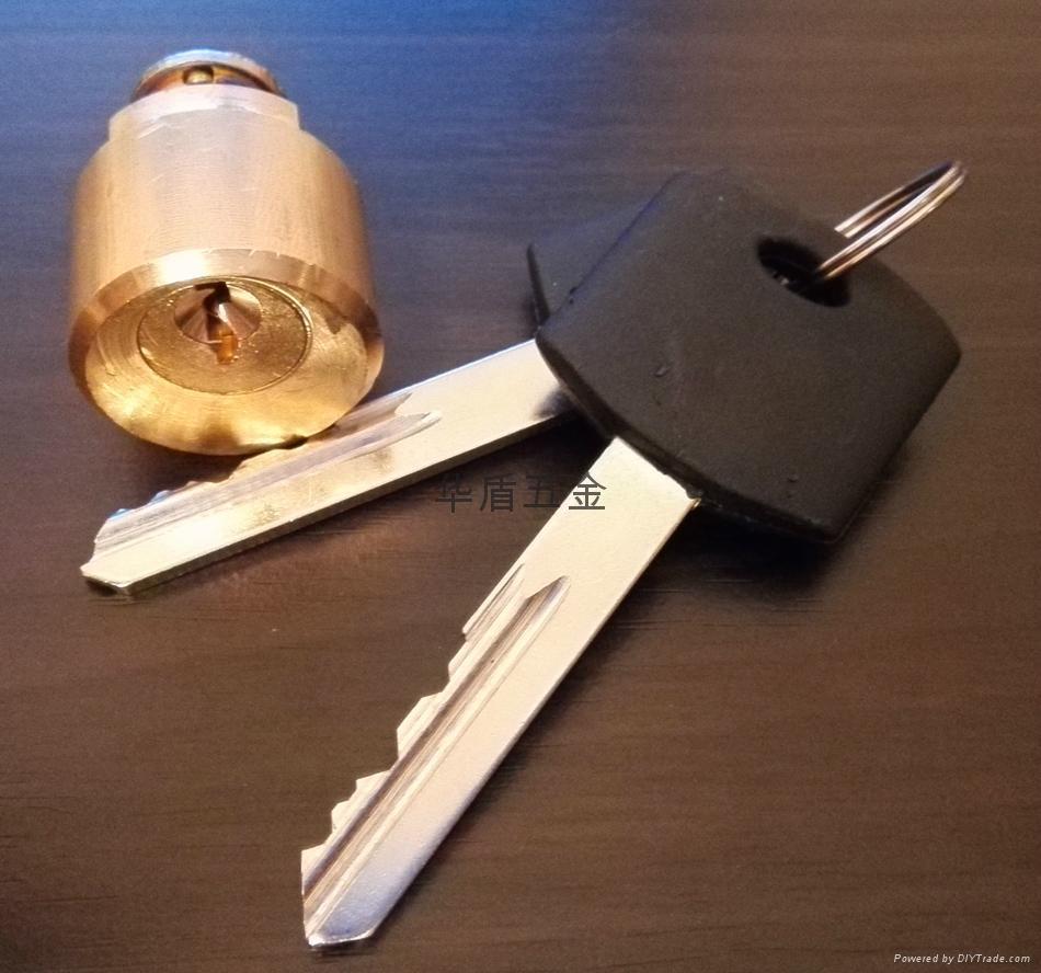 全銅酒店鎖鎖芯 酒店鎖圓鎖芯 膠柄銅鎖匙 2