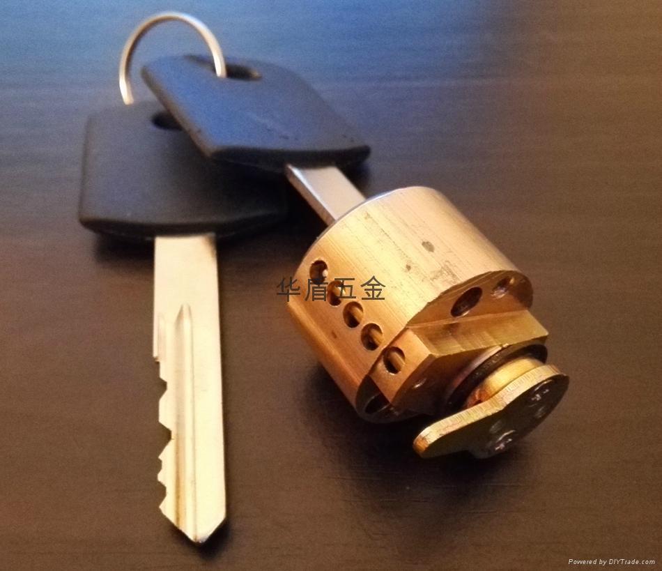 全銅酒店鎖鎖芯 酒店鎖圓鎖芯 膠柄銅鎖匙 1