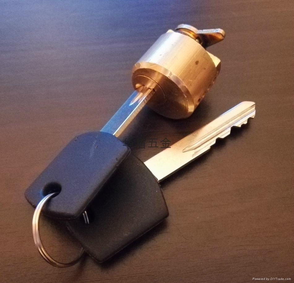 全銅酒店鎖鎖芯 酒店鎖圓鎖芯 膠柄銅鎖匙 3