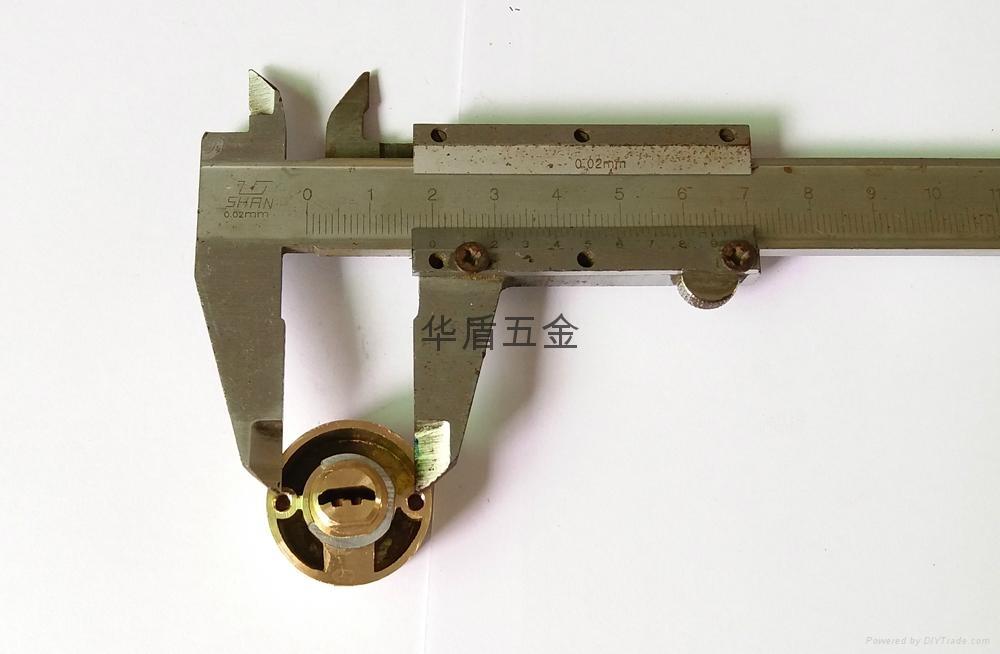 雙排珠卷閘門鎖芯 全銅卷閘門鎖芯 中山小欖卷閘門鎖芯定製 4