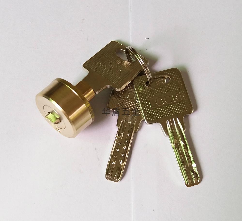 雙排珠卷閘門鎖芯 全銅卷閘門鎖芯 中山小欖卷閘門鎖芯定製 1