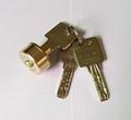 雙排珠卷閘門鎖芯 全銅卷閘門鎖