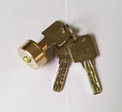 雙排珠卷閘門鎖芯 全銅卷閘門鎖芯 中山小欖卷閘門鎖芯定製