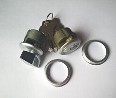 单开型肯德基锁芯 锌合金旋钮肯德基锁芯 单边螺纹肯德基锁芯