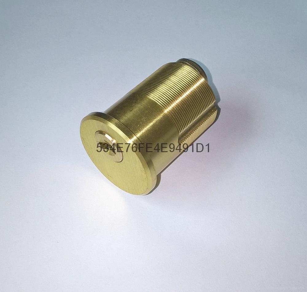 超B級美式螺紋鎖芯 高檔美標鎖芯 中山小欖葉片鎖芯定製 2