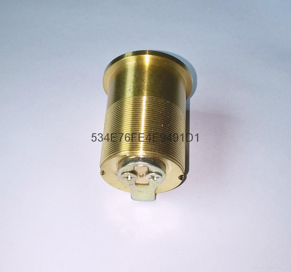 超B級美式螺紋鎖芯 高檔美標鎖芯 中山小欖葉片鎖芯定製 3