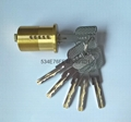 超B級美式螺紋鎖芯 高檔美標鎖芯 中山小欖葉片鎖芯定製 4