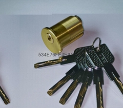 超B級美式螺紋鎖芯 高檔美標鎖芯 中山小欖葉片鎖芯定製