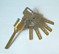 超B级外装门锁芯 防盗门锁芯 全铜防钻防技术性开启