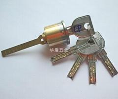 月牙原子锁芯 双排珠月牙防盗门锁芯 外装门防钻锁芯